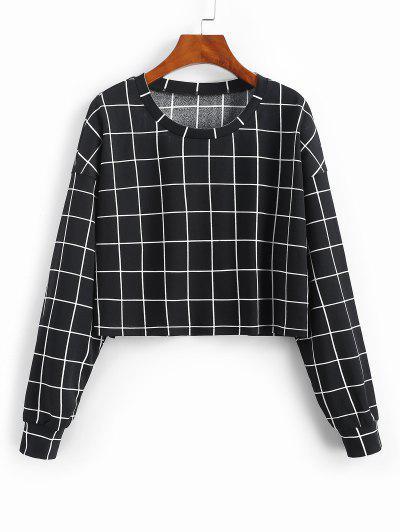 ZAFUL Gitter Druck Sweatshirt - Schwarz M