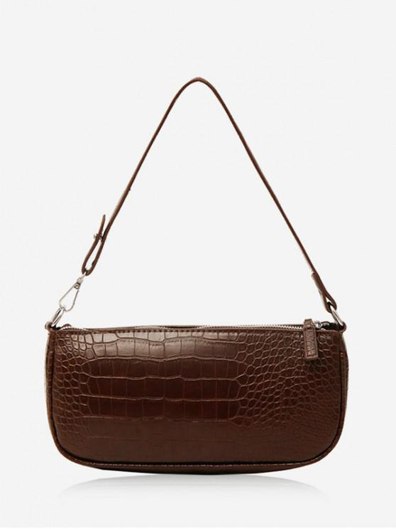 outfit Animal Embossed Leather Sling Bag - DEEP COFFEE