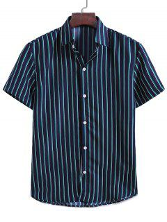 Vertical Stripes Casual Shirt - Midnight Blue Xl