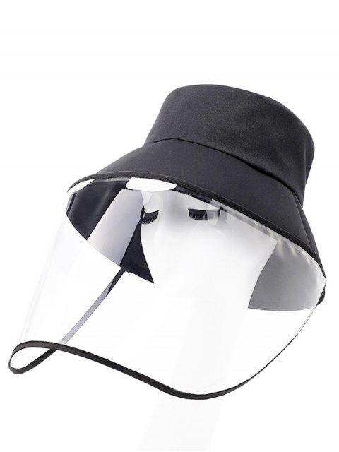 lady Detachable Face Shield Outdoor Protective Bucket Hat - BLACK  Mobile