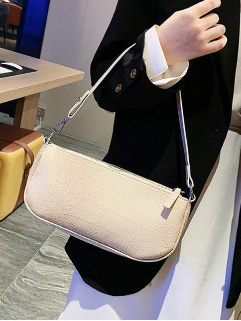 hot Animal Embossed Leather Sling Bag - WHITE  Mobile
