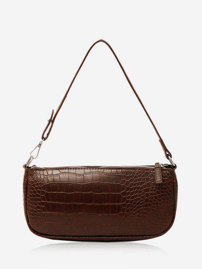 Animal Embossed Leather Sling Bag - Deep Coffee
