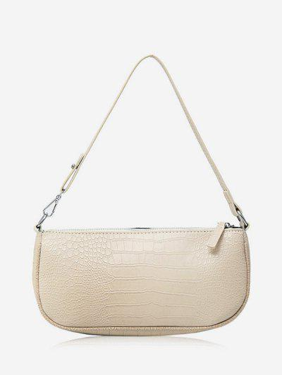 Animal Embossed Leather Sling Bag - White