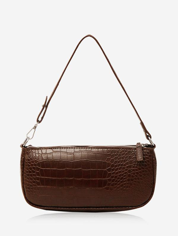 Animal Embossed Leather Sling Bag