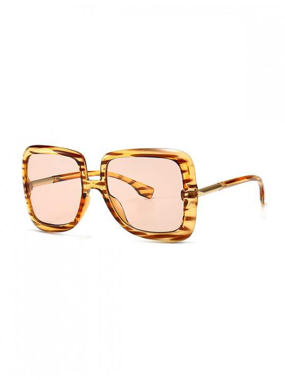 lady Ombre Retro Square Sunglasses - PINK