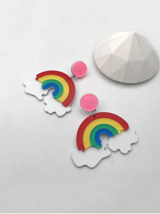 hot Cartoon Rainbow Clouds Drop Earrings - MULTI