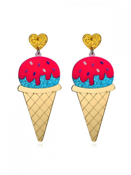 outfits Cartoon Ice Cream Glitter Earrings - MULTI