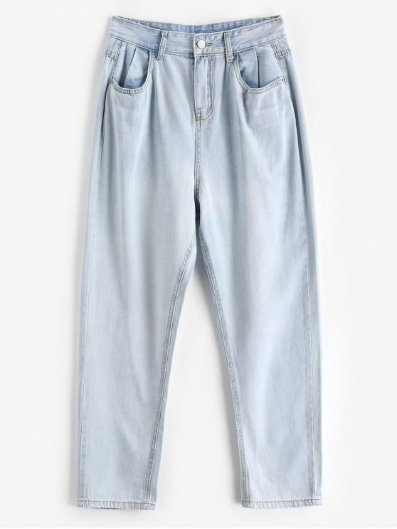 lady Tapered Mom Jeans - LIGHT BLUE M