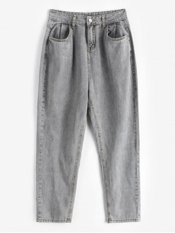 Calça Jeans Cônicos Básicos - Cinzento S