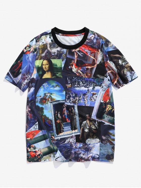 ZAFULルネッサンは、グラフィックTシャツ - ブラック S