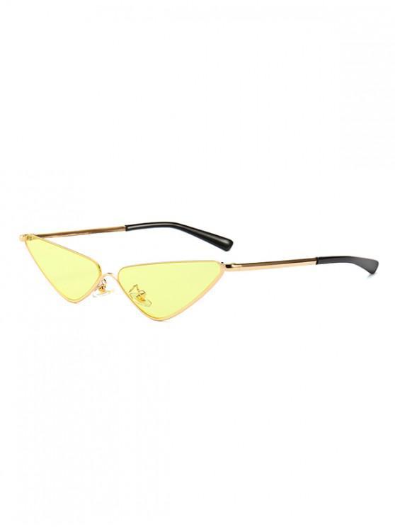 online Narrow Triangle Metal Sunglasses - YELLOW