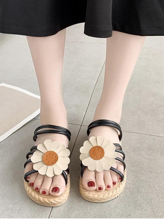 Sunflower Convertible Strap Flat Sandals - أسود الاتحاد الأوروبي 40