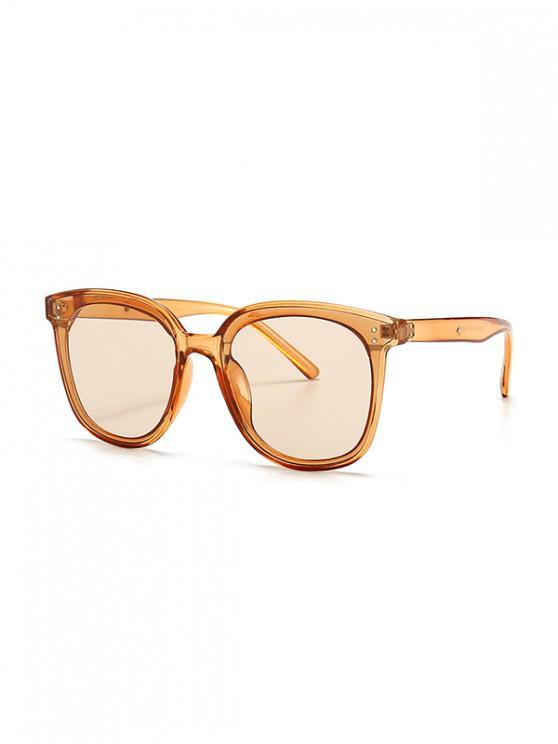 ladies UV Protection Round Retro Sunglasses - TANGERINE