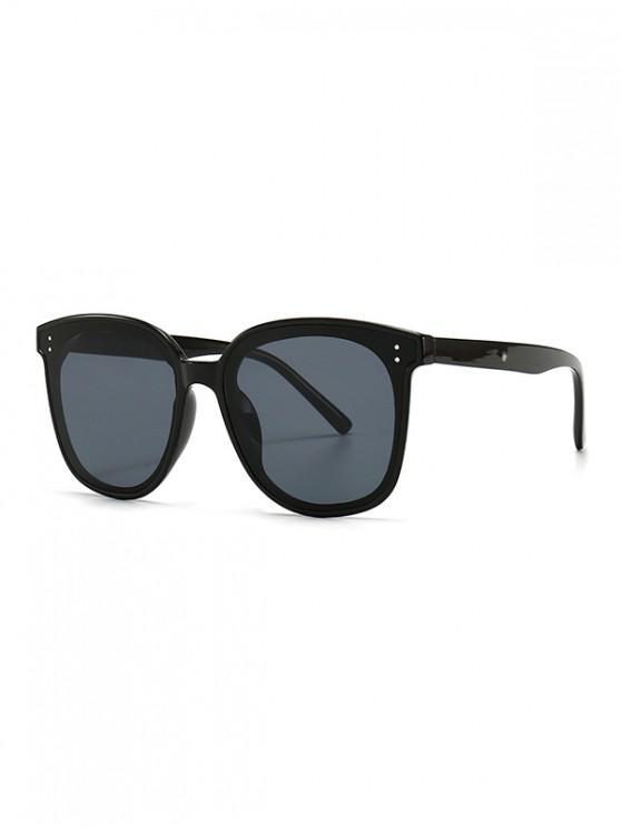 womens UV Protection Round Retro Sunglasses - BLACK