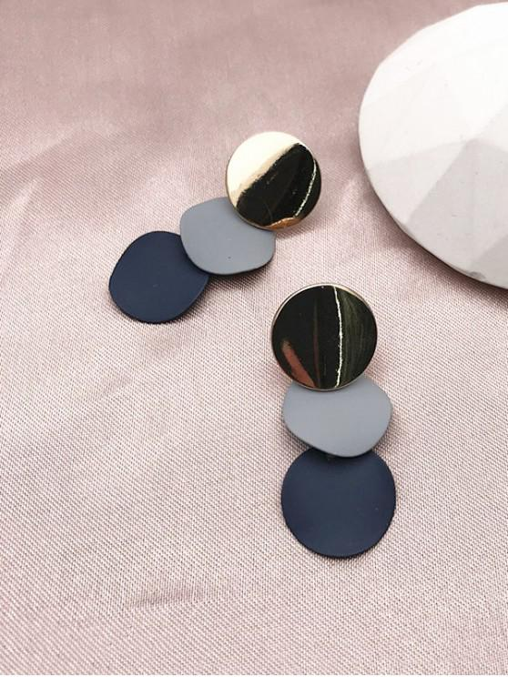 outfit Round Stud Drop Earrings - GOLDEN