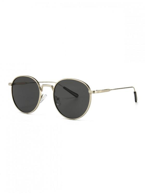 trendy Retro Metal Round Sunglasses - PLATINUM