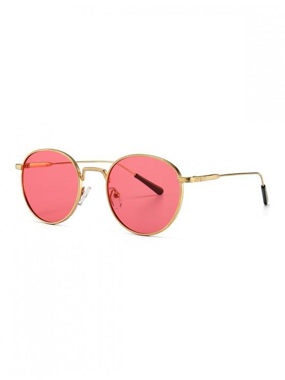 shops Retro Metal Round Sunglasses - DEEP PINK