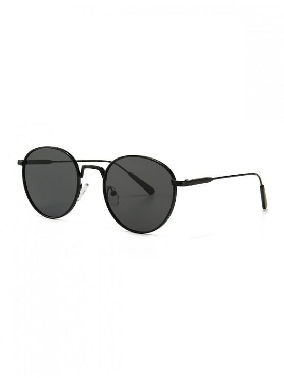 best Retro Metal Round Sunglasses - BLACK