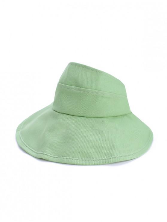trendy Foldable Sunproof Solid Wide Brim Visor Hat - MINT GREEN