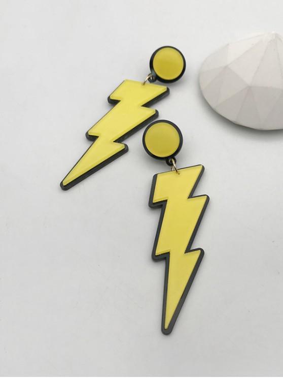 hot Cartoon Lightning Acrylic Earrings - YELLOW
