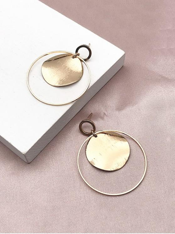 outfit Round Hollow Drop Earrings - GOLDEN