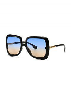 Ombre Retro Square Sunglasses - Blue Gray