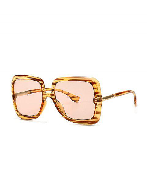 lady Ombre Retro Square Sunglasses - PINK  Mobile