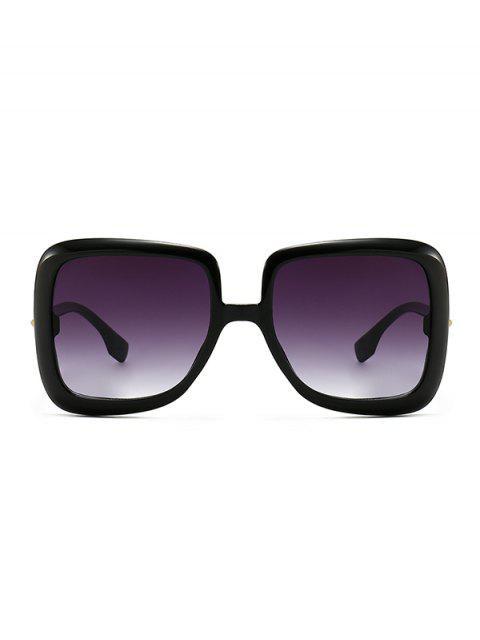 best Ombre Retro Square Sunglasses - BLACK  Mobile