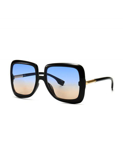 Ombre Retro Quadratische Sonnenbrille - Blaugrau  Mobile