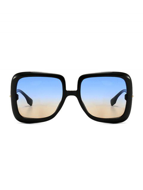 new Ombre Retro Square Sunglasses - BLUE GRAY  Mobile