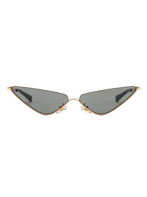 affordable Narrow Triangle Metal Sunglasses - BLACK  Mobile