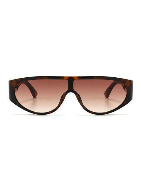 lady Retro One-piece Sunglasses - LEOPARD  Mobile