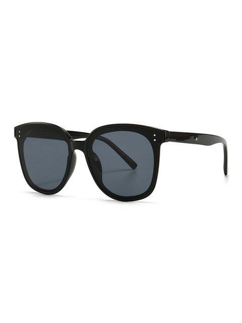 womens UV Protection Round Retro Sunglasses - BLACK  Mobile