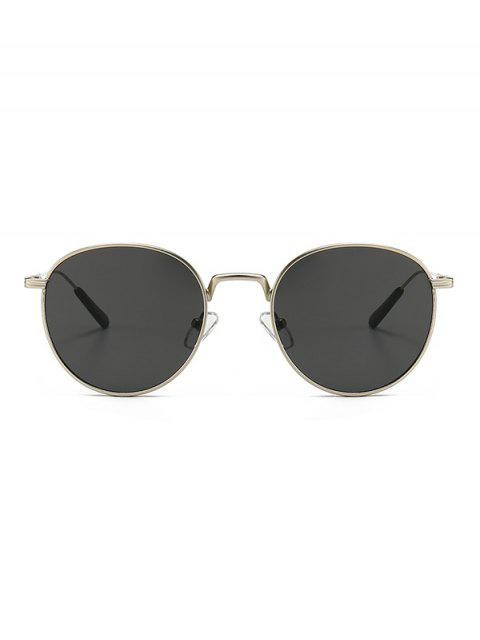 trendy Retro Metal Round Sunglasses - PLATINUM  Mobile