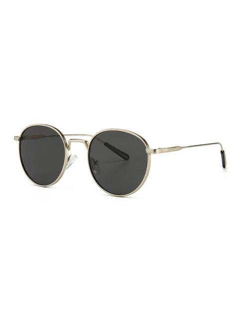 Retro Metal Round Sunglasses - بلاتين  Mobile