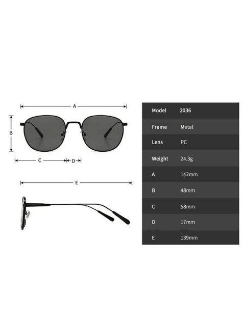 latest Retro Metal Round Sunglasses - BROWN  Mobile