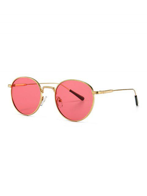 shops Retro Metal Round Sunglasses - DEEP PINK  Mobile