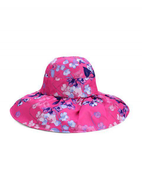 Foldable Flower Pattern Summer UV Protection Visor Cap - وردة حمراء  Mobile