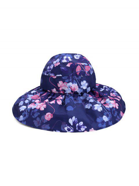 Casquette Visièred'Eté Pliable Protection UV Motif de Fleur - Cadetblue  Mobile