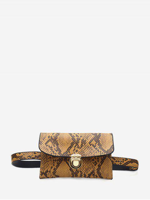 Snakeskin Muster Hüfttasche - Kaffee  Mobile