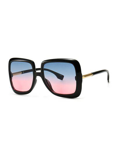 Ombre Retro Square Sunglasses - Watermelon Pink
