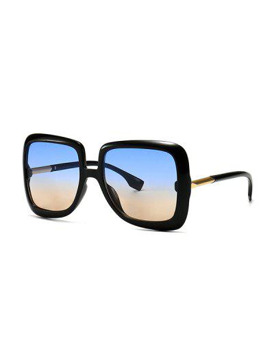 Ombre Retro Square Sunglasses - Blue Gray