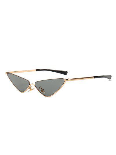 Narrow Triangle Metal Sunglasses - Black