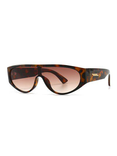 Retro One-piece Sunglasses - Leopard