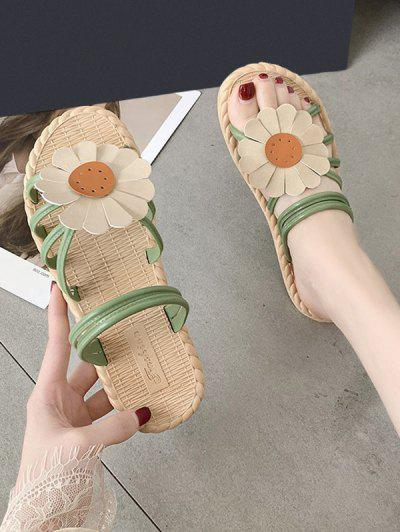Sunflower Convertible Strap Flat Sandals - Green Eu 39