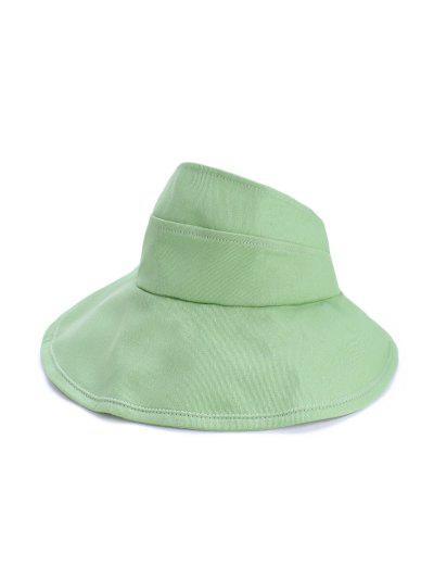 Foldable Sunproof Solid Wide Brim Visor Hat - Mint Green