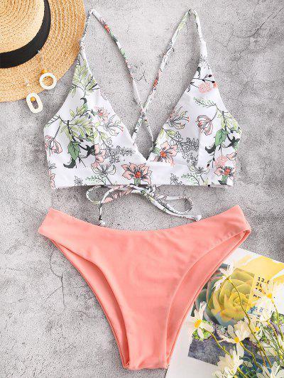 Flower Bikini Swimsuit