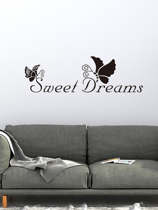 Sweet Dream Butterfly Printed Decorative Wall Art Stickers