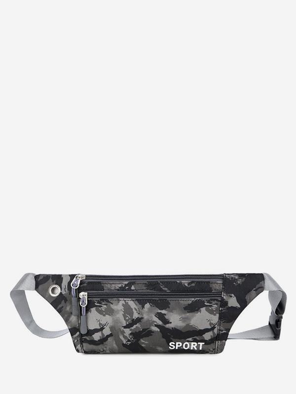 Camouflage Print Sports Waist Bag