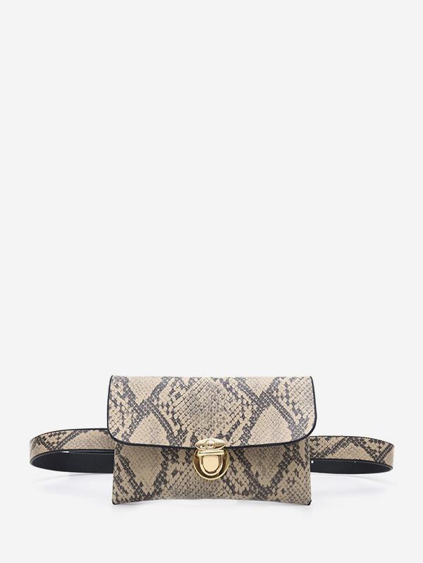 Snakeskin Pattern Waist Bag